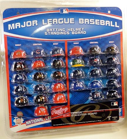 This entire set of MLB helmets is only $12 to $14 depending on where you find them. Out-STANDING value! (Photo: Mark Otnes)