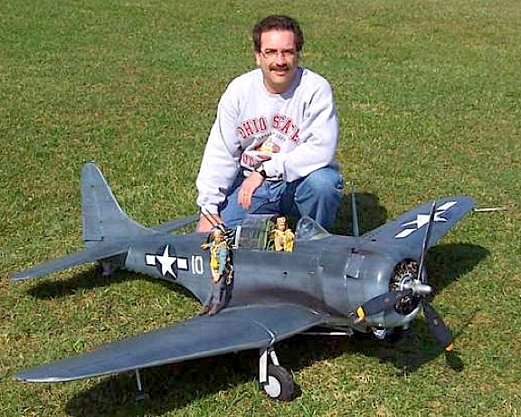Tom Pierce and his Dauntless before its first and ONLY flight. (Photo: Tom Pierce)