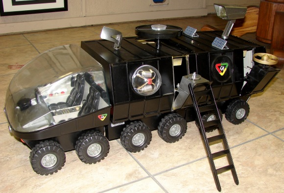 """Gary has extended a vintage GijOE MSV, added numerous exotic new gadgets and painted it all in """"anti-crime"""" black paint."""