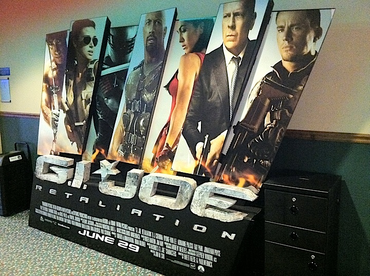 Large movie poster display