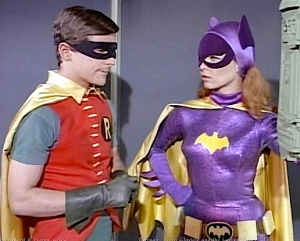 Burt Ward and Yvonne Craig in a scene from the original Batman TV series. The number of characters and gadgets worthy of merchandising in this show are practically endless. Holy, Bat Profits! (Photo: Warner/DC)