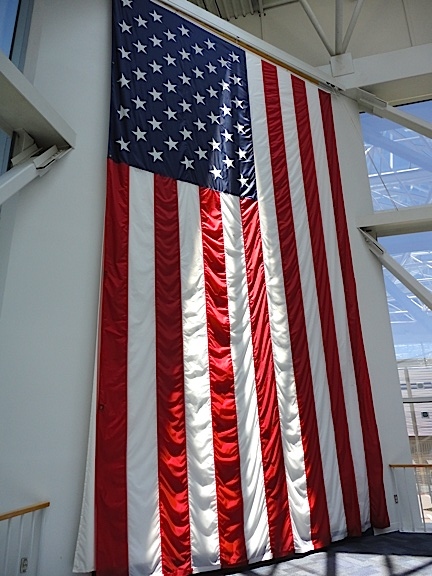 Gigantic US Flag, Naval Aviation Museum, Pensacola, FL (Photo: Mark Otnes)