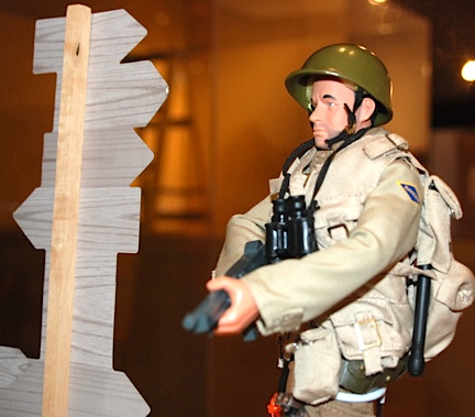 Ashby's Tom Hanks figure has been set up and is ready for his moment in the museum's spotlight. (Photo: US Army)