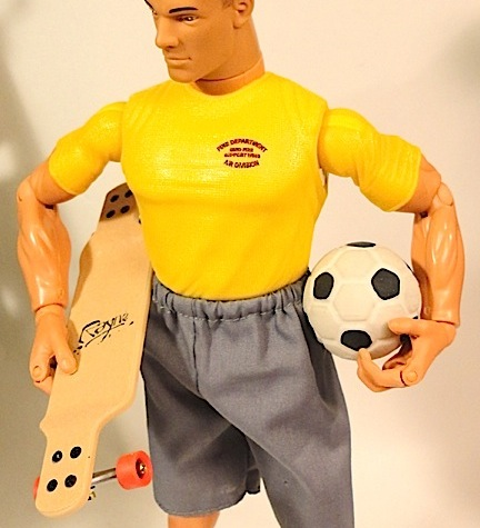 "Here's a couple of great ideas for 1:6 scale gifts: a  ""longboard"" with working wheels (techdeck.com) and a solid rubber soccer ball (most local dollar stores). Joe's kids will be sure to get a lot of exercise, come Spring! (Photo: Mark Otnes)"