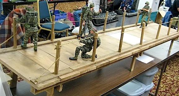 Custom 1:6 scale bridge seen at last year's Burbank, CA Joe Show. (Photo: Joebros)