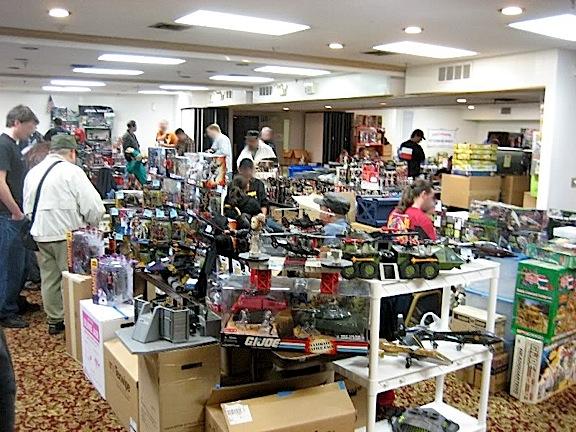 Crowds of fans search tables full of Joe merchandise at last year's Burbank, CA GIjOE Show. (Photo: Joebros)