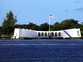 The U.S.S. Arizona memorial (Photo: armchairhawaii)