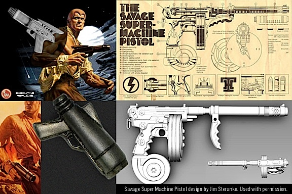 Comic fans will appreciate this wild pistol inspired by the artwork of comics legend, Jim Steranko. WOW! (Photo: Go Hero Toys)