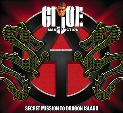 "Logo art for the ""Secret Mission to Dragon Island"" JoeCon 2013 12"" exclusive. (Graphic: GIJCC)"