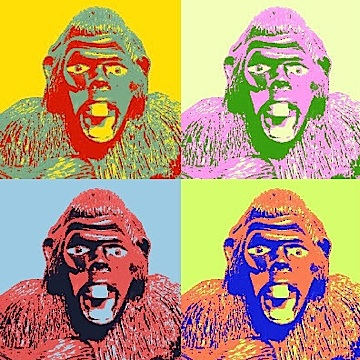 "Joe's nemesis gets his own ""15 minutes of fame"" in ""GIjOE: Pygmy Gorilla: Warhol. (Artwork by Sean Eley)"