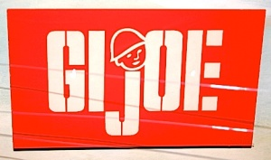 Most GIjOE collectors will instantly spot the problems with this logo. (Photo: Chris Voegelin) Click to enlarge.