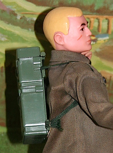 Closeup of the vintage Army figure working on the telephone pole. (Photo: Chris Vogelin)