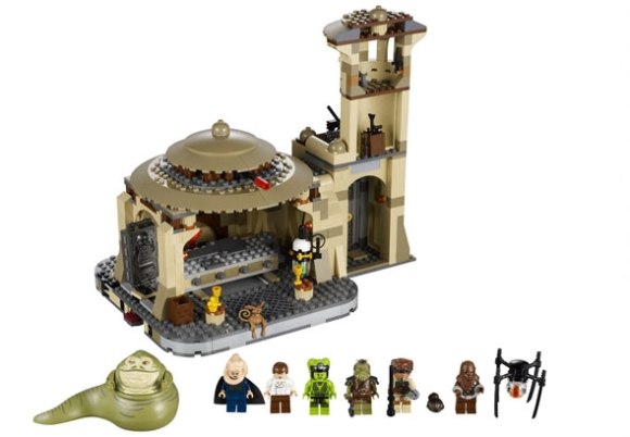 "The ""offensive"" Jabba the Hut and other figures from the Jabba's Palace playset. (Photo: Lego)"