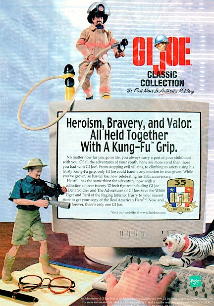 "Another example of the rare full-color ads used to promote GIjOE in the late '90s. At that time, Hasbro's ""Classic Collection"" line was a brisk seller in stores. (Courtesy: Mark Otnes Collection)"