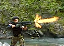 """The use of actual """"blank"""" ammunition in fan films is commonplace as this exciting scene from  """"GIjOE: Special Operations 2"""" clearly reveals. (Photo: IDIC Productions)"""