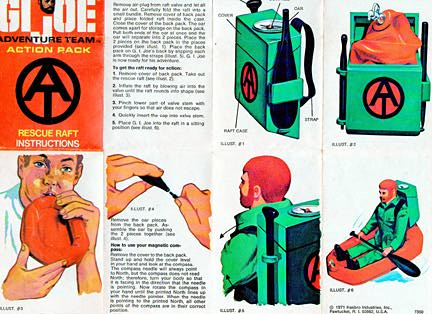 Instruction pamphlets were included with most Adventure Team equipment sets in the 1970s. Do you have them all? (Courtesy: Robert Findlay Collection)