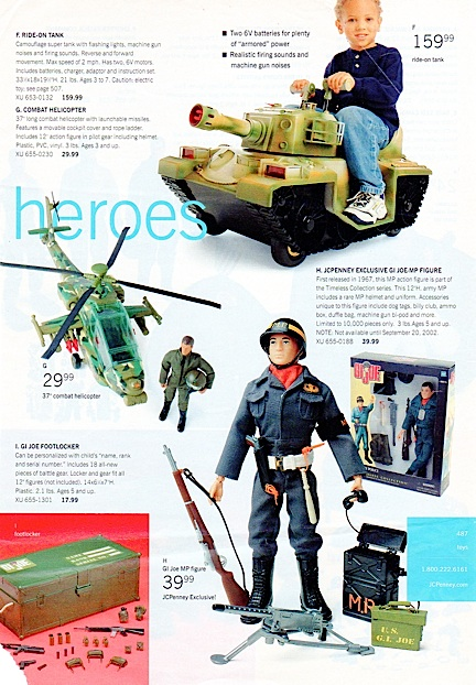 Die-hard collectors consider any appearance of GIjOE in print is an occasion worth remembering. Here, the MP Joe is looking sharp in another JCPenny catalog. (Courtesy: Mark Otnes Collection)