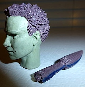 "Another intriguing headsculpt that would never be produced. This handsome character appears to have come with a pony tail. Perhaps some sort of heroic ""Vampire Slayer?"" We may never know. (Photo: usarules)"