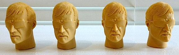 "This auction lot contains FOUR resin copies of the never-produced ""Detective"" headsculpt, complete with molded on wrap-around sunglasses. (Photo: usarules)"