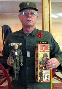 "You don't have to be a beautiful woman or a 20-year old dude with six-pack abs to enjoy ""Joe cosplay."" Just ask longtime fan and collector, Doug Kidd. His portrayal of an original Army GIjOE is fantastic! (Photo: Doug Kidd) Click to enlarge."