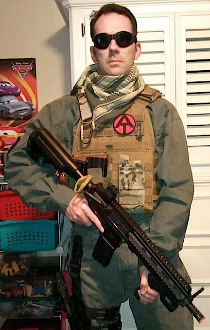 "Not every costume is worn to a convention. GIjOE fan and collector, Kyle Knox, decribes his superb cosplay outfit thusly, ""This is my load out for airsoft. Everyone at the field knows me by the AT patch on my plate carrier and cap!"" (Photo: Kyle Knox)"