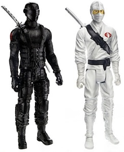 "The new 12"" versions of ""Snake Eyes"" and ""Storm Shadow"" as revealed at the 2013 Toy Fair. Yawn. (Photo: Hasbro)"