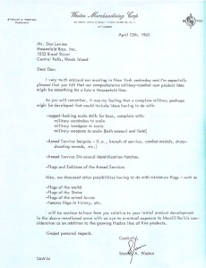 This is the letter that confirms Stan Weston as the creator of GIjOE, netting him a one-time payment of $100,000. (Photo: Jay Weston) Click to enlarge.