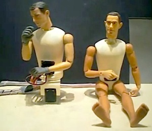 "This ""screen grab"" from a video shows two nude animatronic figures and how their electronic ""guts"" are housed in the chest and pelvis area. (Photo: Ylms) Click to enlarge."