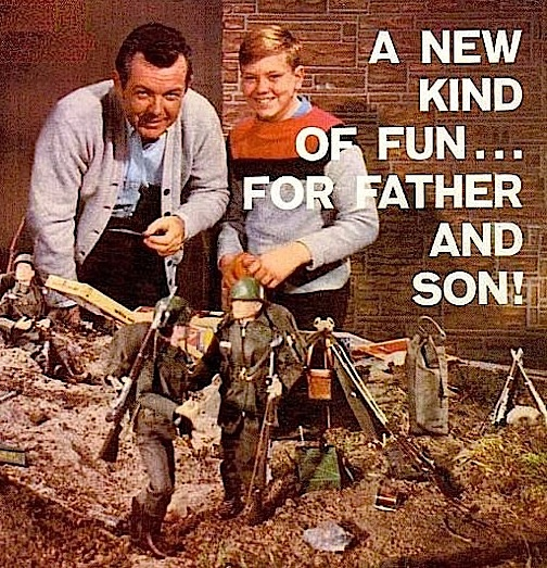 "For vintage ""Joeheads,"" playing in the dirt, either inside or outside was commonplace and second nature, as this '60s Hasbro ad clearly demonstrates. Are today's ""high-tech"" fans getting further from these early ""hands-on"" days? (Photo: Hasbro)"