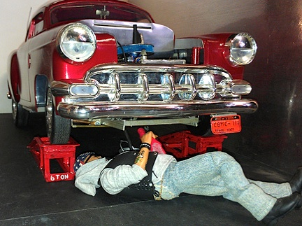 Ron's red hot rod is equally eye-grabbing with its stunning paint job and engine details. (Photo: Ron Stymus)