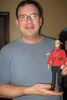 "Canadian GIjOE fan and collector, Robert Hall, holds his favorite figure for a recent photo shoot profiling him over on the internationally acclaimed, ""GIjOE Collections"" website. Hall is the fourth Canadian to be included on the site. (Photo: Robert Hall)"