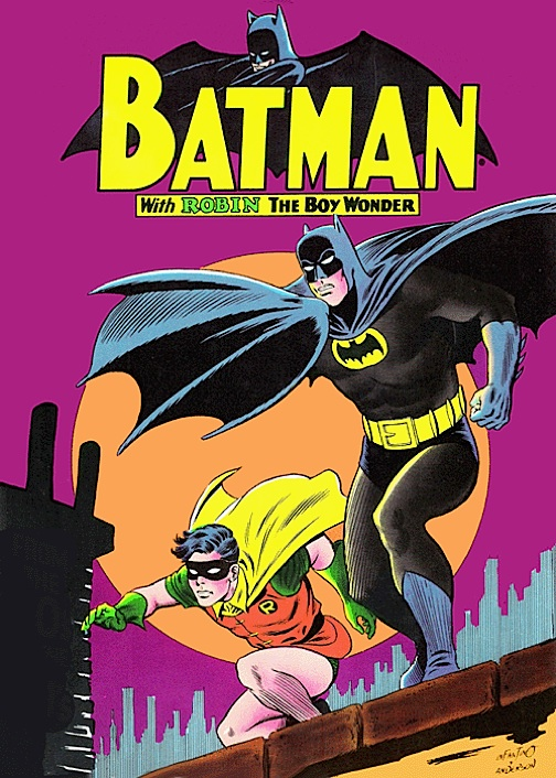 Batman and Robin were elevated to the status of American entertainment icons by the exciting 1960's artwork of DC great, Carmine Infantino. (Artwork: Infantino/Anderson)