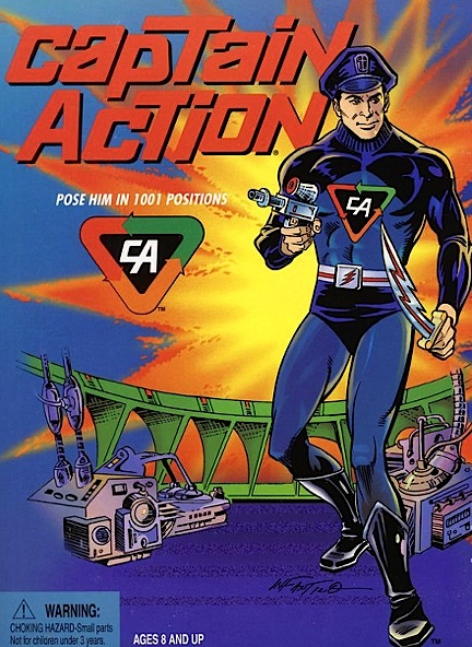 Captain Action's first reappearance after 40 years was in this new box illustrated by Camine Infantino for Playing Mantis Toys. (Photo: Joe Ahearn)