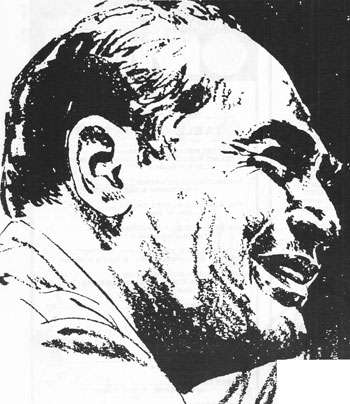 Carmine Infantino, as rendered by another comics legend, Neal Adams. (Art: Neal Adams)