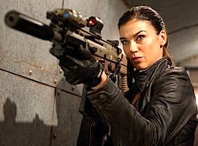 "Some hot chick named Adrianne Palicki portrays ""Lady Jaye"" in the film. Mmm...girls with guns! (Photo: Paramount)"