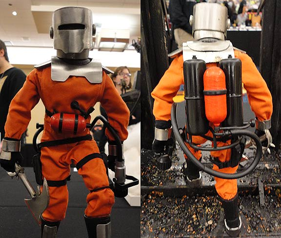 "Our favorite 12"" custom figure by FAR, with real metal helmet, axe and accessories. (Photos: Mark Otnes)"