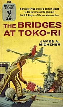 "The carrier float was modeled after the USS Oriskany (CV-34), made famous in the film, ""The Bridges at Toko-Ri,"" based on the book by James Michner. (Bantam Books)"