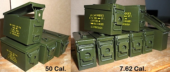 Jonathan's amazing all-metal 1:6 scale ammo cans. (Photo: Jonathan De Guzman)