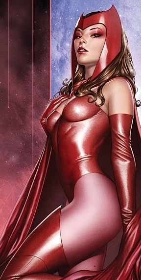 "Round 2 draws inspiration for future CA and LA sets from Marvel and DC comic book characters. Marvel's ""Scarlett Witch"" looks like an obvious (and alluring) choice. Will she ""make the cut"" and be on toy store shelves soon? Stay tuned, Marvel fans! (Art: wikia)"