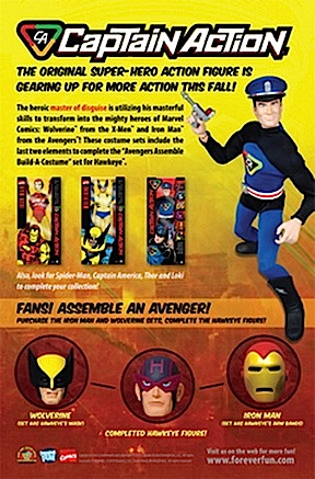 """This new ad introduces the new Iron Man and Wolverine uniform sets, utilizing the same """"retro"""" feel of previous CAE and R2 advertisements. (Photo: CAE)"""
