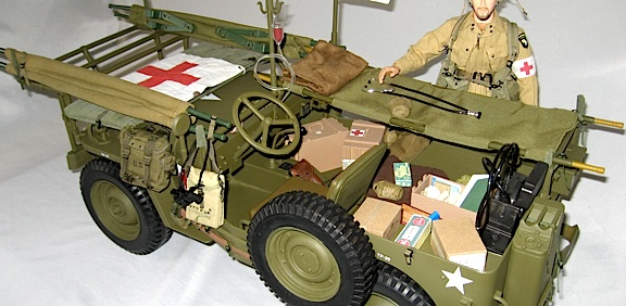 Robert's taken an ordinary Jeep and converted and customized it into a perfect 1:6 scale replica of MASH field ambulance. Outstanding! (Photo: Robert Jason)