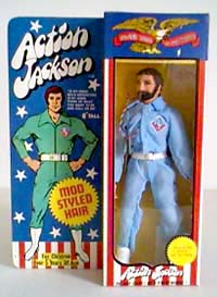 The original Action Jackson was inferior to GIjOE in every way. The figure was lame, the packaging was lame, even his logo was lame. When you're this bad, there's no where to go, but UP! (Photo: Mego)