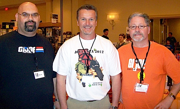 Sharing GIjOE fandom with friends. That's what Joe shows and conventions are all about. Above, Matt Stevenson, Chet Peters and David Howard posed for this snapshot at Joelanta 2012. (Photo: David Howard)