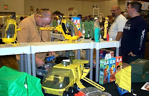 Greg Brown and other members of the DFW GIjOE Collector's Club prepare their dealer booths before the opening of the 2013 GIjOE and Action Figure Show in Carrollton, TX. (Photo: DFWGCC)