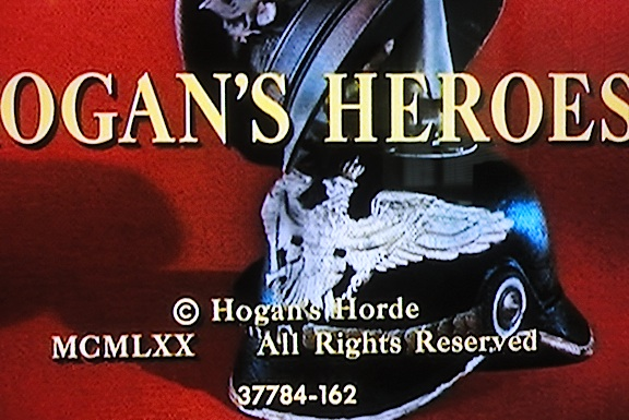 "In this closeup screenshot from a 5th season episode of ""Hogan's Heroes,"" the unusual typo is clearly visible. For some reason, it was allowed to remain throughout the ENTIRE run of the show's final season."