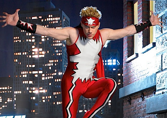 "Martial-artist and circus performer, John Stork as the superhero ""Hyper-Strike,"" in a publicity still for the SyFy competition reality show, Who Wants to Be a Superhero?"" (Photo: SyFy)"