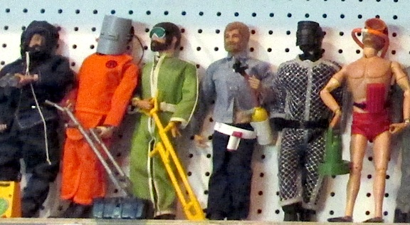 Shelves full of vintage Adventure Team Joes await Doug's next assignment. (Photo: Douglas Kidd)