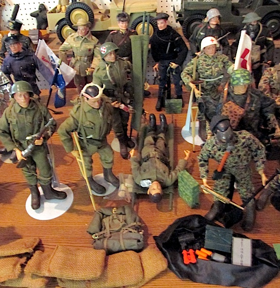 Kidd's GIjOE collection appears to be mostly authentic Hasbro. (Photo: Douglas Kidd)