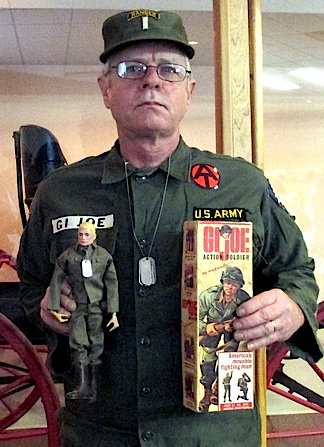 "Longtime GIjOE fan, Douglas Kidd (hown above, posing with his first childhood GIjOE), has revealed to The Joe Report that he has been unable to locate any other collectors in the entire state of Arkansas. Kidd's goal for the past year has been to assemble enough fans to create a new ""local division"" of the official GIjOE Collector's Club. But as this date, he has had little to no luck. (Photo: Douglas Kidd)"