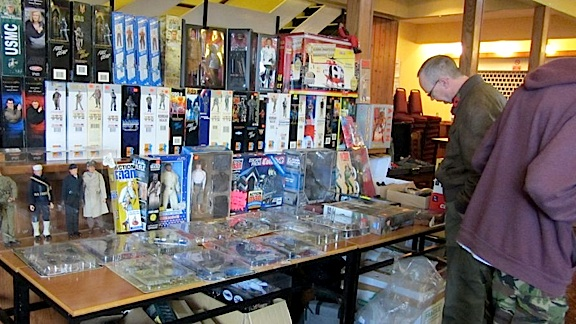 This dealer's table at last year's Welsh Action Figure Show was full of NMIB figures. Bring money! (Photo: Dandare01)